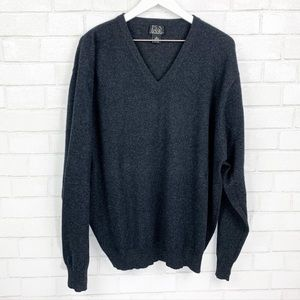 Jos A Bank Oversized Cashmere V Neck Sweater XL